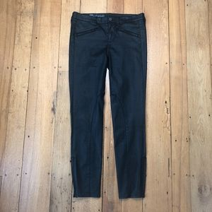 Madewell Black Coated Ankle Zip Moto Skinny Jeans